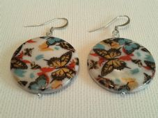 Butterfly print earrings